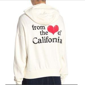 LNA HEART OF CALIFORNIA ZIP UP HOODIE
